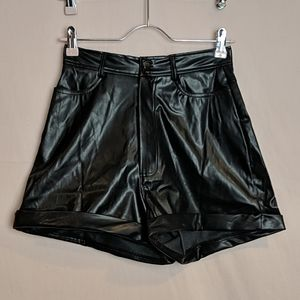 PrettyLittleThing Faux Leather Shorts